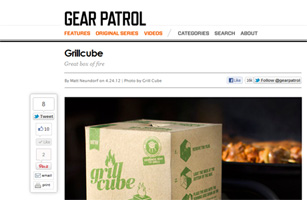Grillcube on Gear Patrol